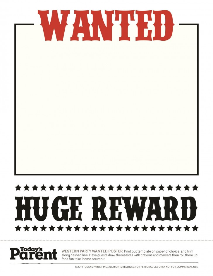003 Wonderful Wanted Poster Template Microsoft Word Image  Western Most728