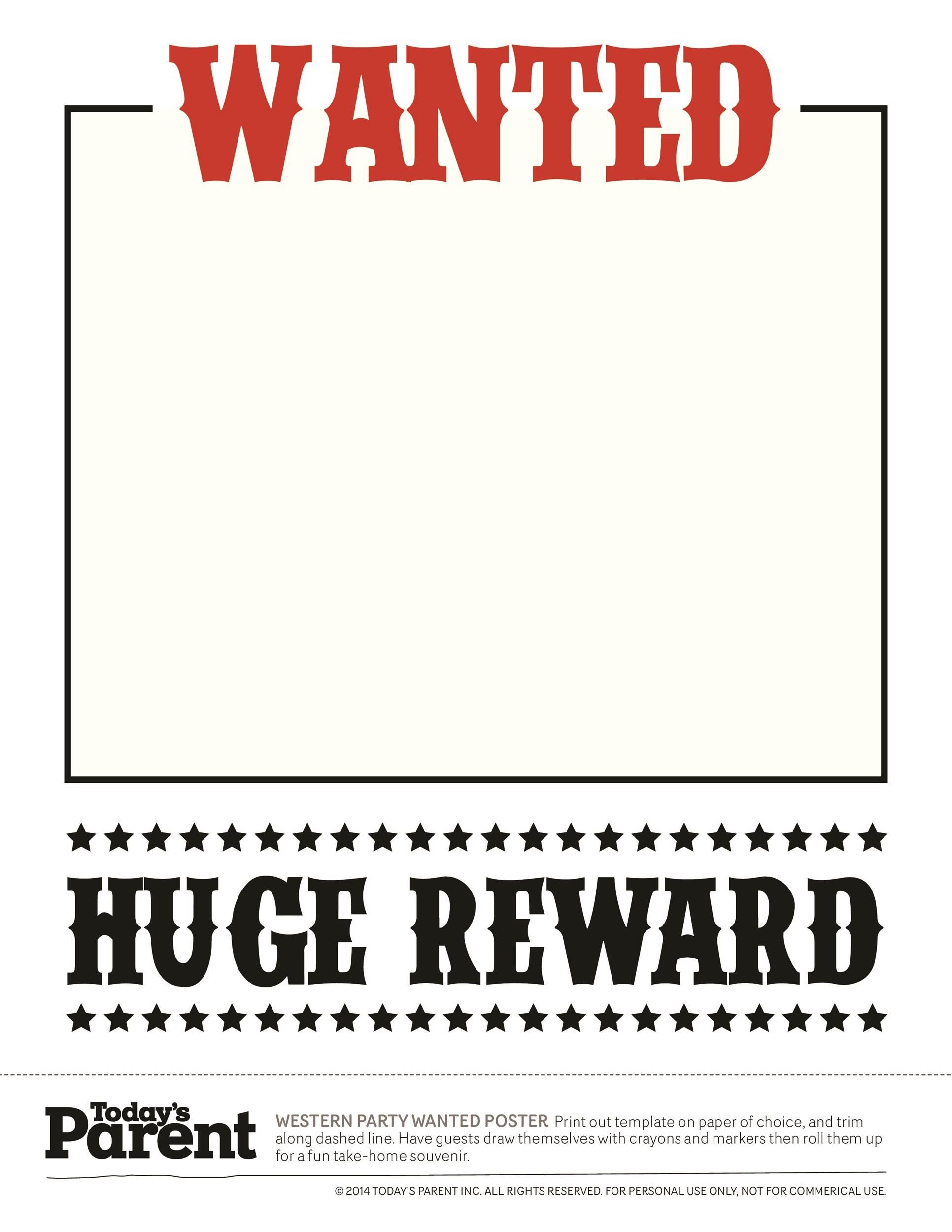 003 Wonderful Wanted Poster Template Microsoft Word Image  Western MostFull