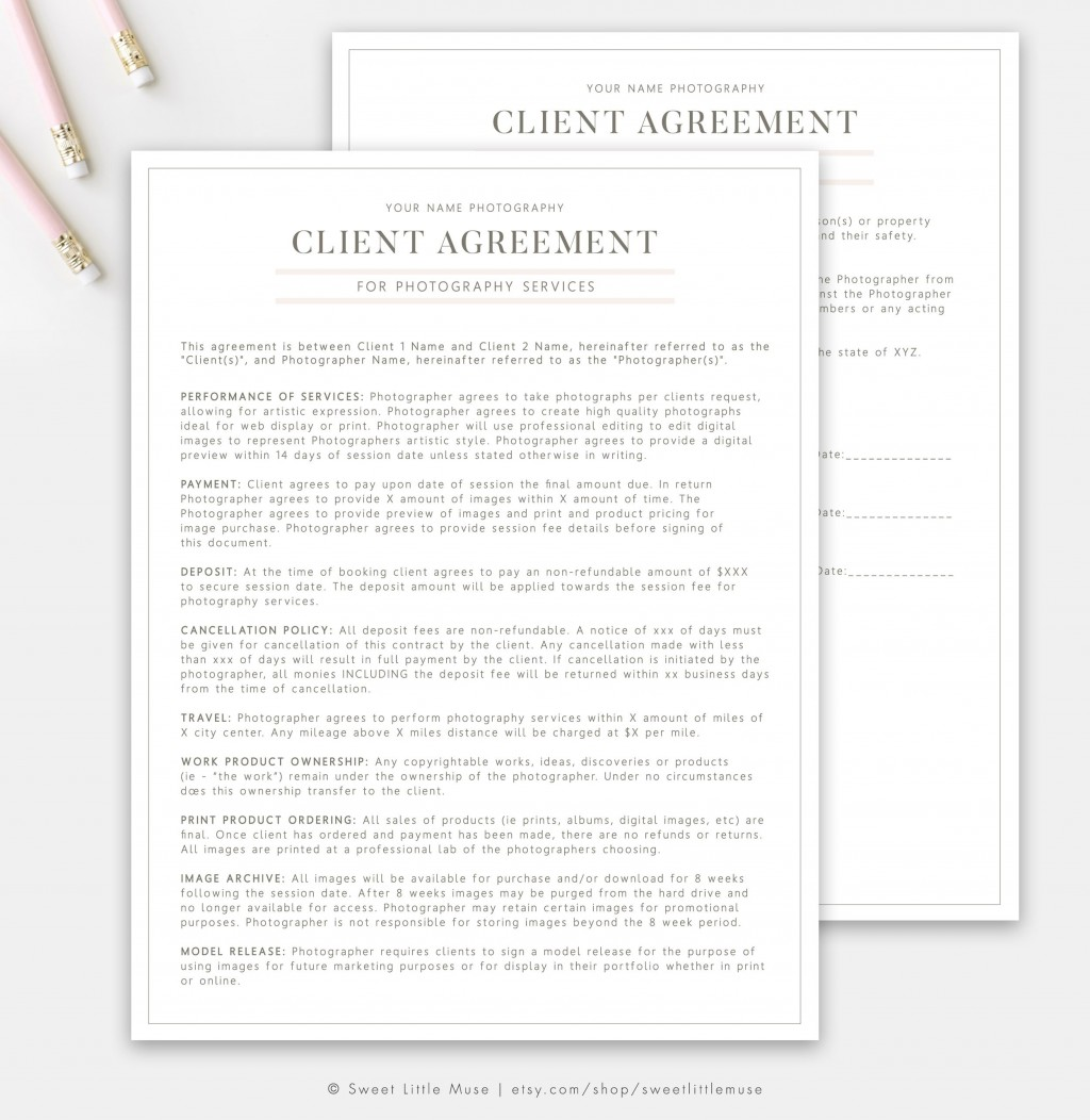 003 Wonderful Wedding Photographer Contract Template High Definition  Free Photography UkLarge