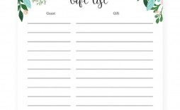 003 Wondrou Baby Shower Guest List Template Inspiration  Free Gift