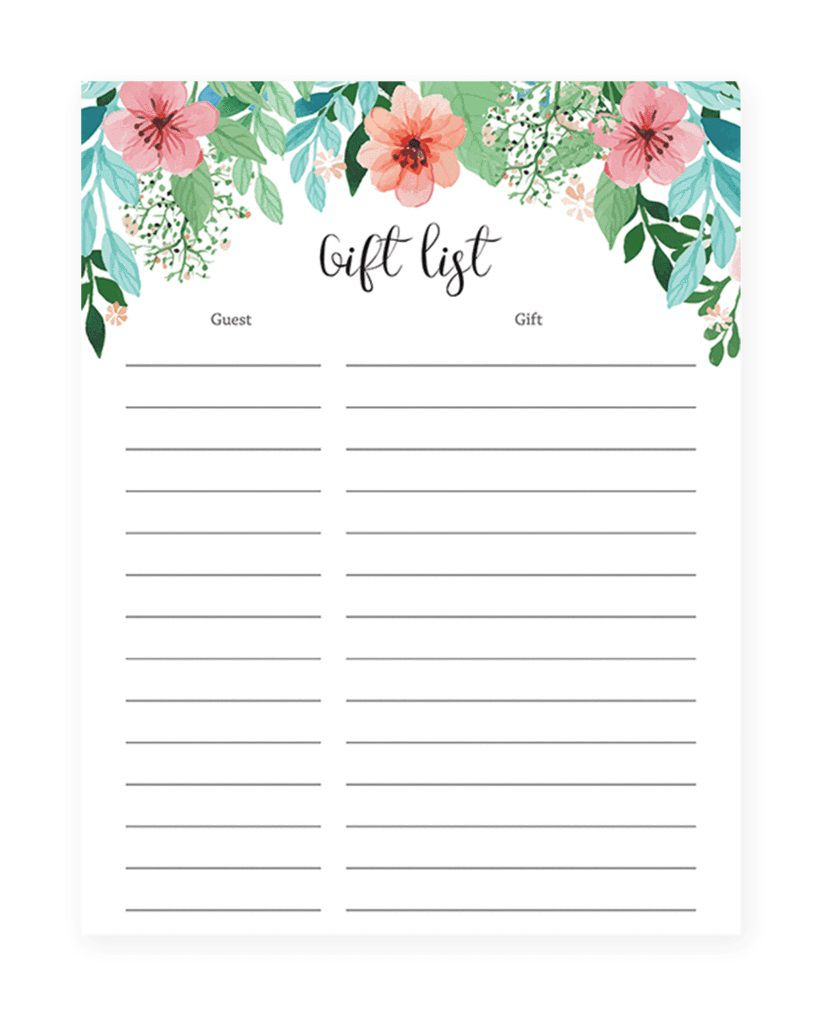 003 Wondrou Baby Shower Guest List Template Inspiration  Free GiftFull