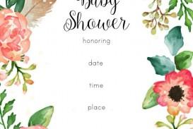 003 Wondrou Baby Shower Invitation Girl Printable Concept