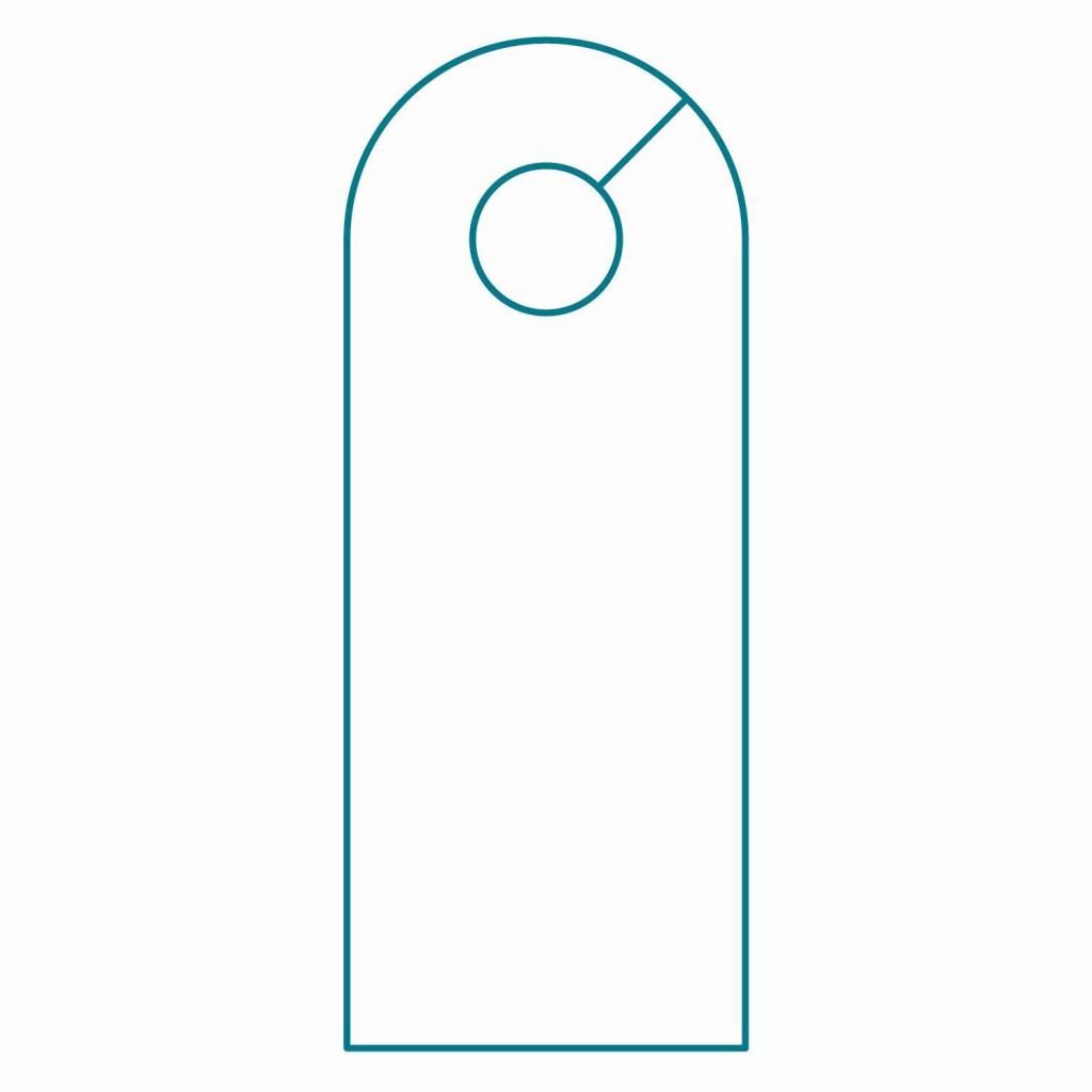 003 Wondrou Blank Door Hanger Template Free Idea Large