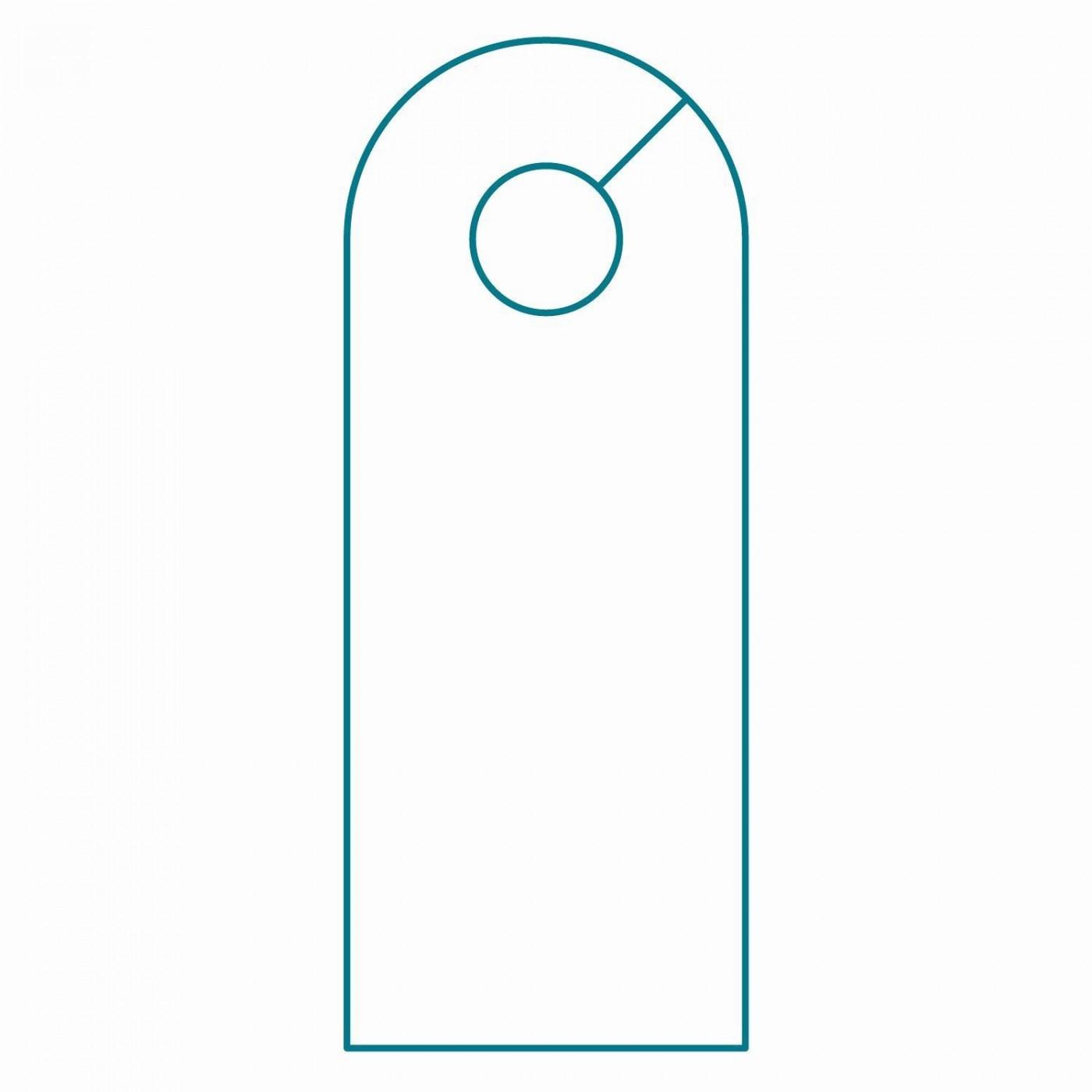 003 Wondrou Blank Door Hanger Template Free Idea 1400