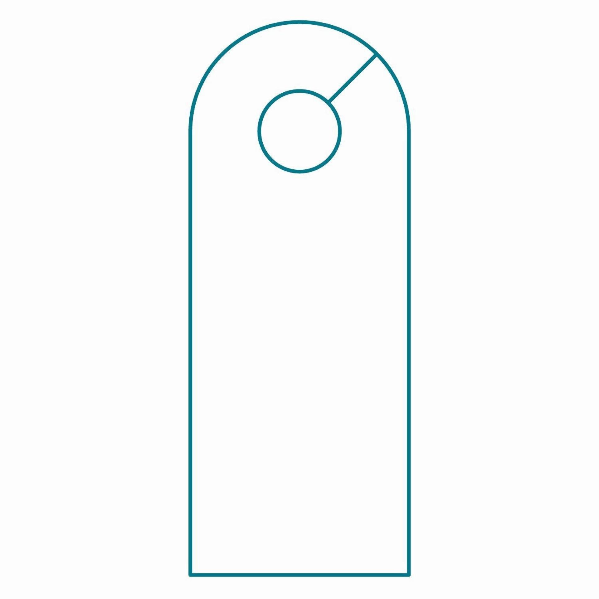 003 Wondrou Blank Door Hanger Template Free Idea 1920