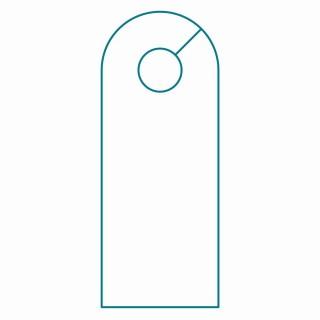 003 Wondrou Blank Door Hanger Template Free Idea 320
