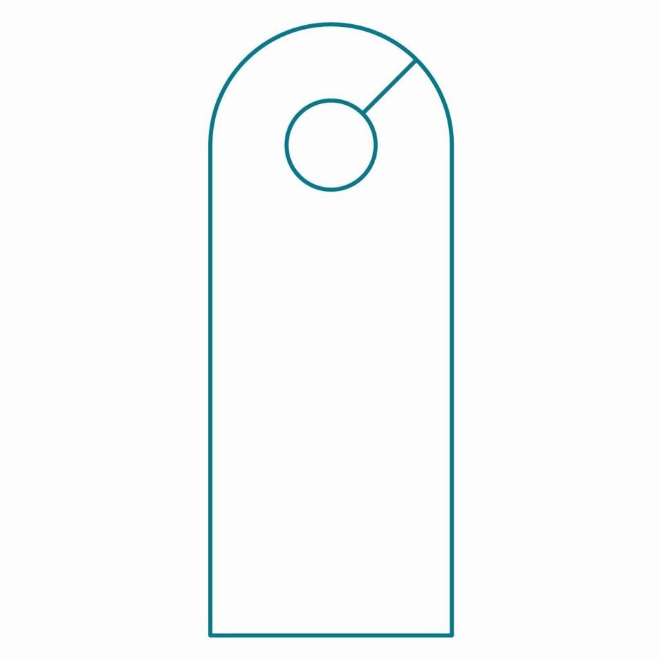003 Wondrou Blank Door Hanger Template Free Idea 960