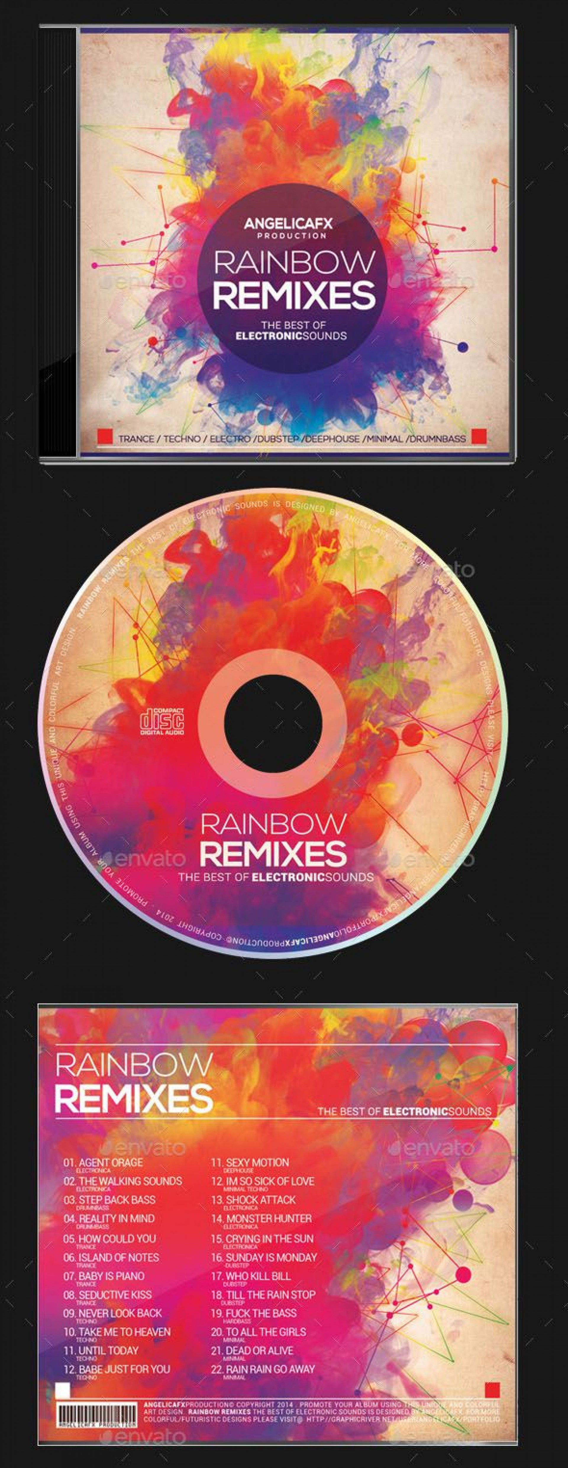 003 Wondrou Cd Label Design Template Free Download  Cover Psd1920