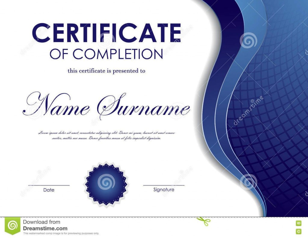 003 Wondrou Certificate Of Completion Template Free Design  Training Download WordLarge
