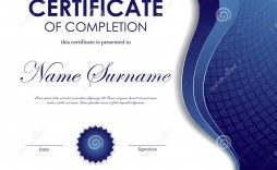 003 Wondrou Certificate Of Completion Template Free Design  Training Download Word