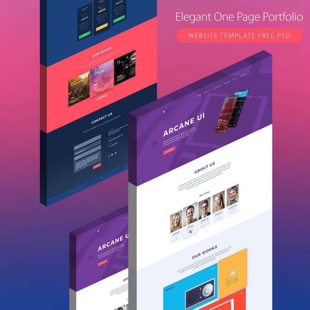 003 Wondrou Creative One Page Website Template Free Download Idea Large