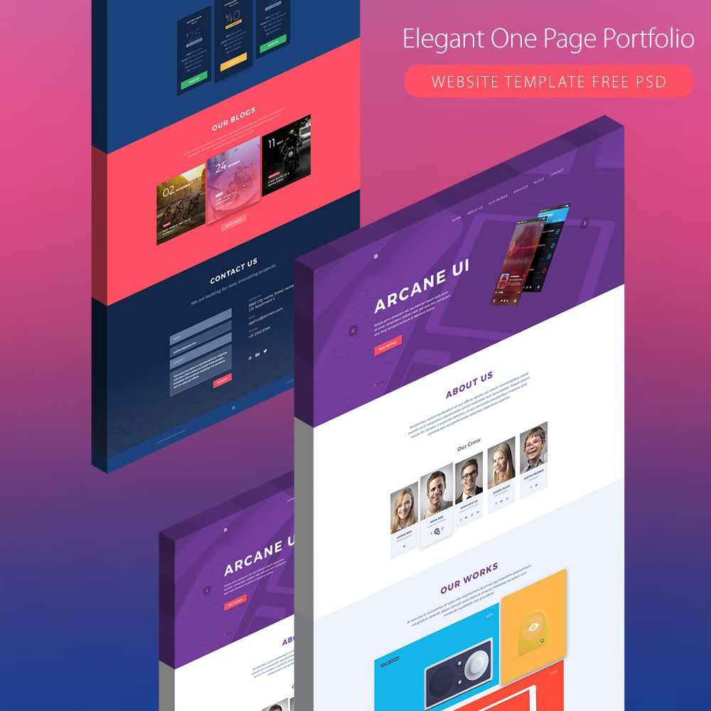 003 Wondrou Creative One Page Website Template Free Download Idea Full
