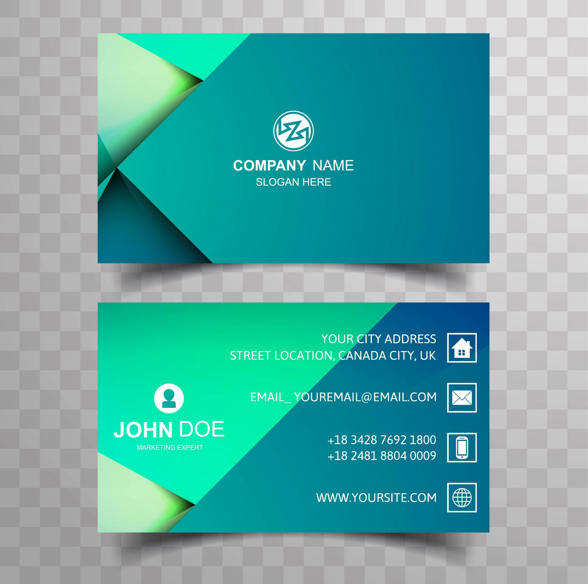 003 Wondrou Double Sided Busines Card Template Concept  Templates Word Free Two Microsoft1920