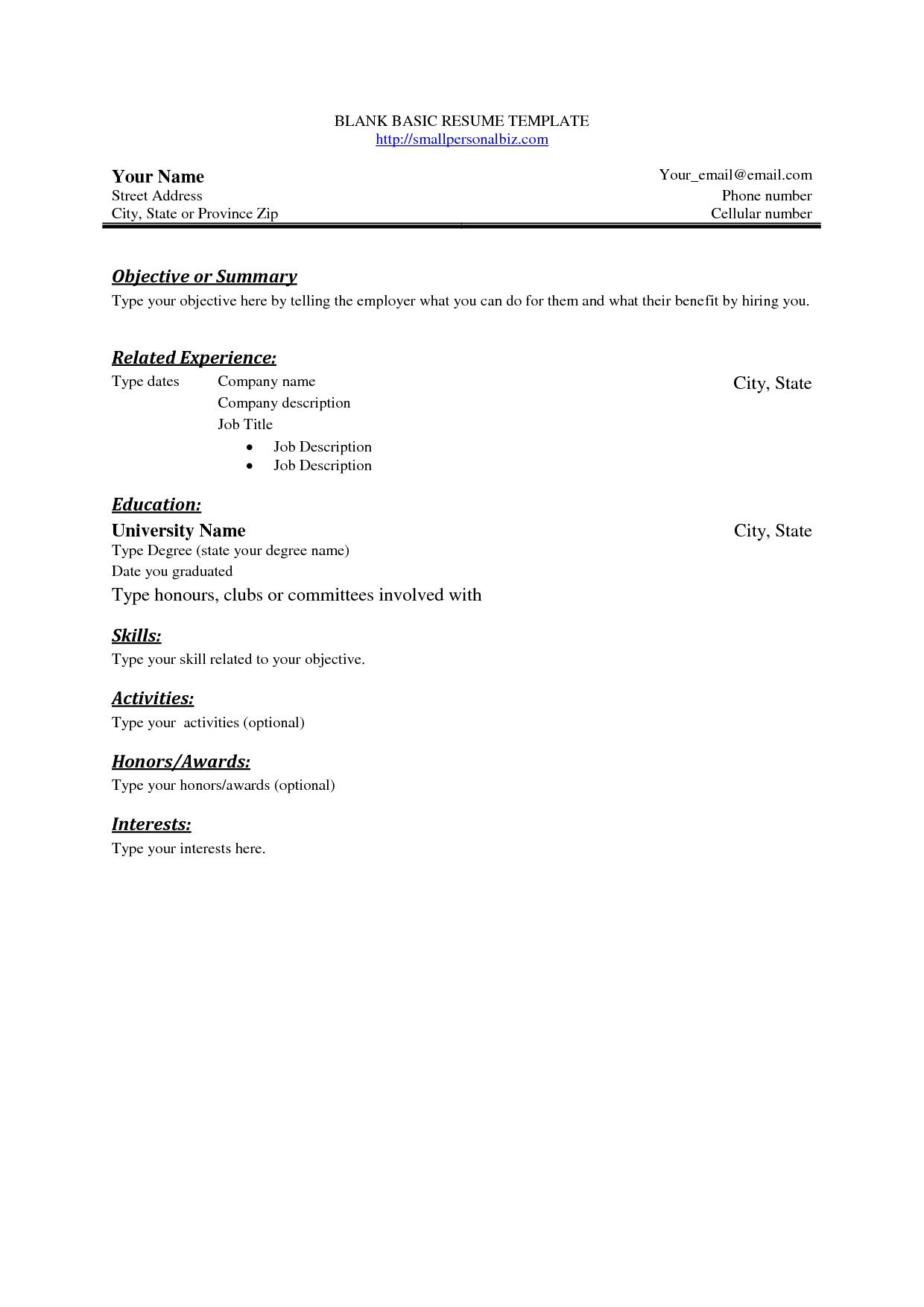 003 Wondrou Easy Resume Template Free High Resolution  Simple Download Online WordFull