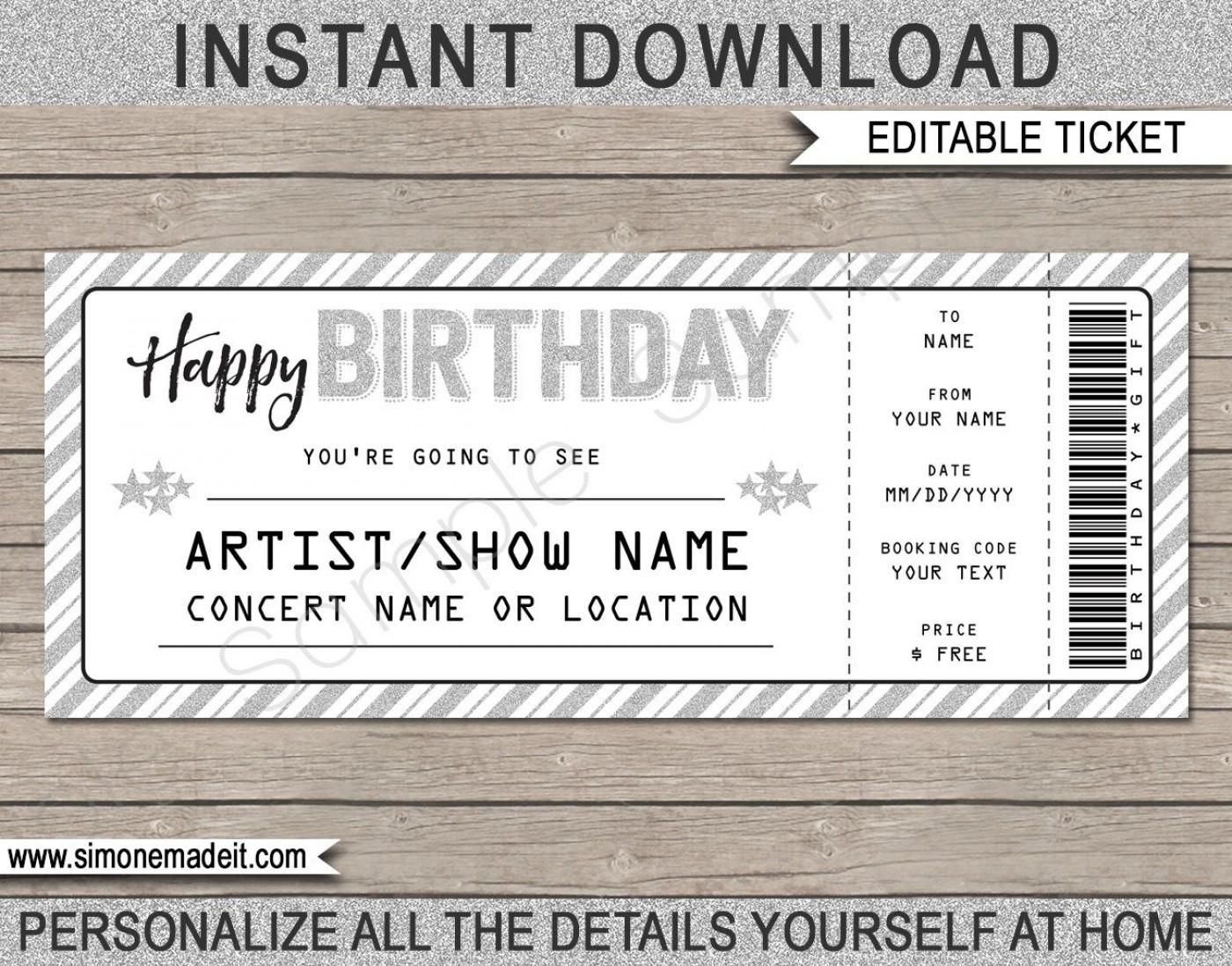 003 Wondrou Editable Ticket Template Free Inspiration  Concert Word Irctc Format Download Movie1400