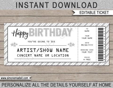 003 Wondrou Editable Ticket Template Free Inspiration  Concert Word Irctc Format Download Movie480