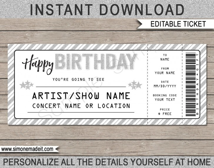 003 Wondrou Editable Ticket Template Free Inspiration  Concert Word Irctc Format Download Movie728