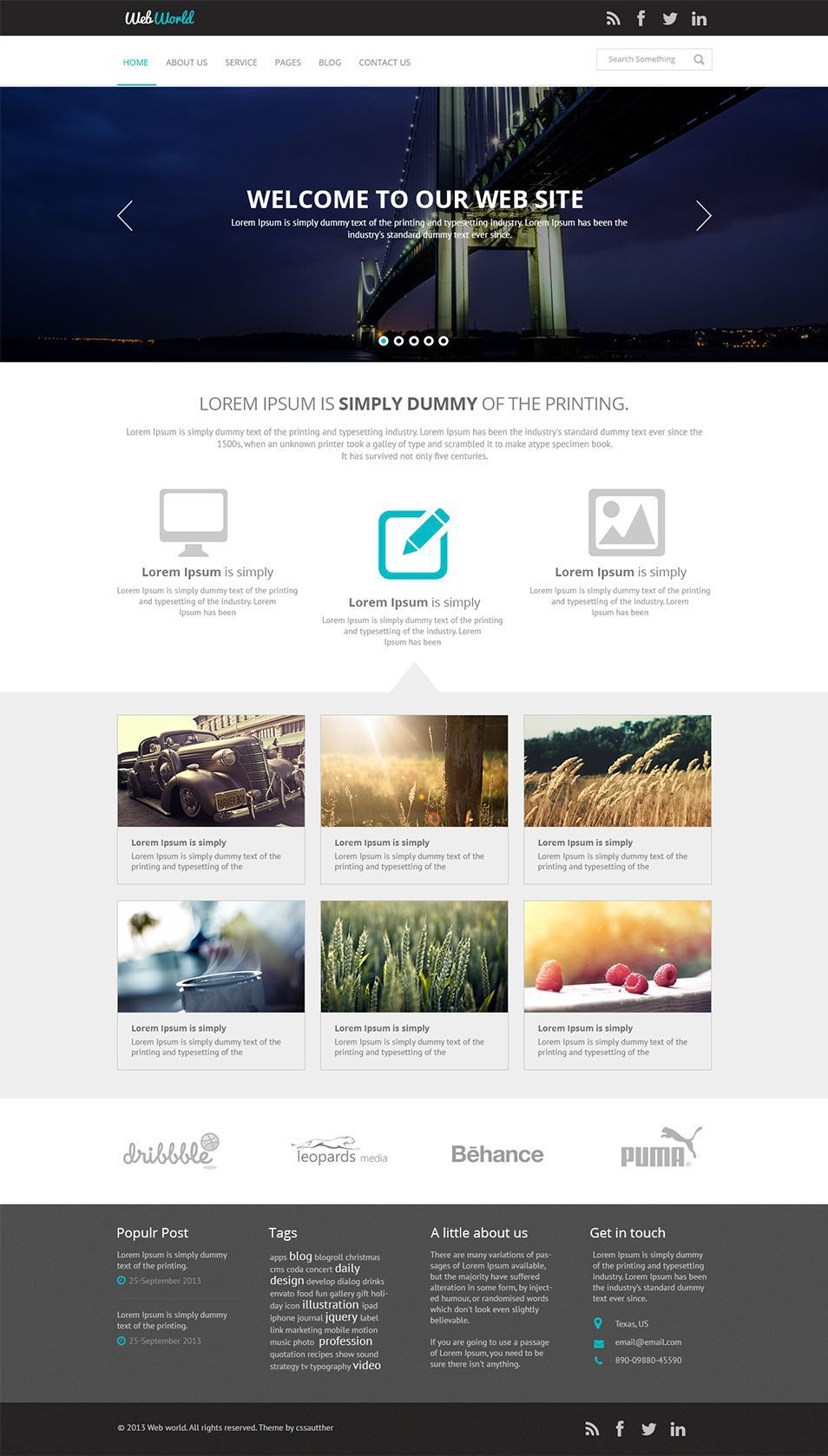 003 Wondrou Free Busines Website Template Download Html And Cs Jquery Image  Responsive For It CompanyFull