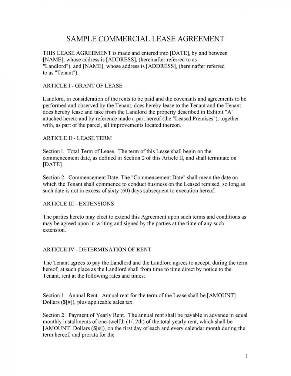 003 Wondrou Free Lease Agreement Template Word High Definition  Commercial Residential Rental South Africa960