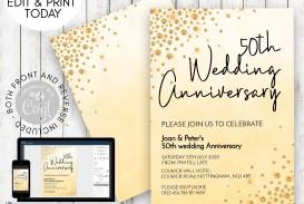 003 Wondrou Free Printable 50th Wedding Anniversary Invitation Template Photo