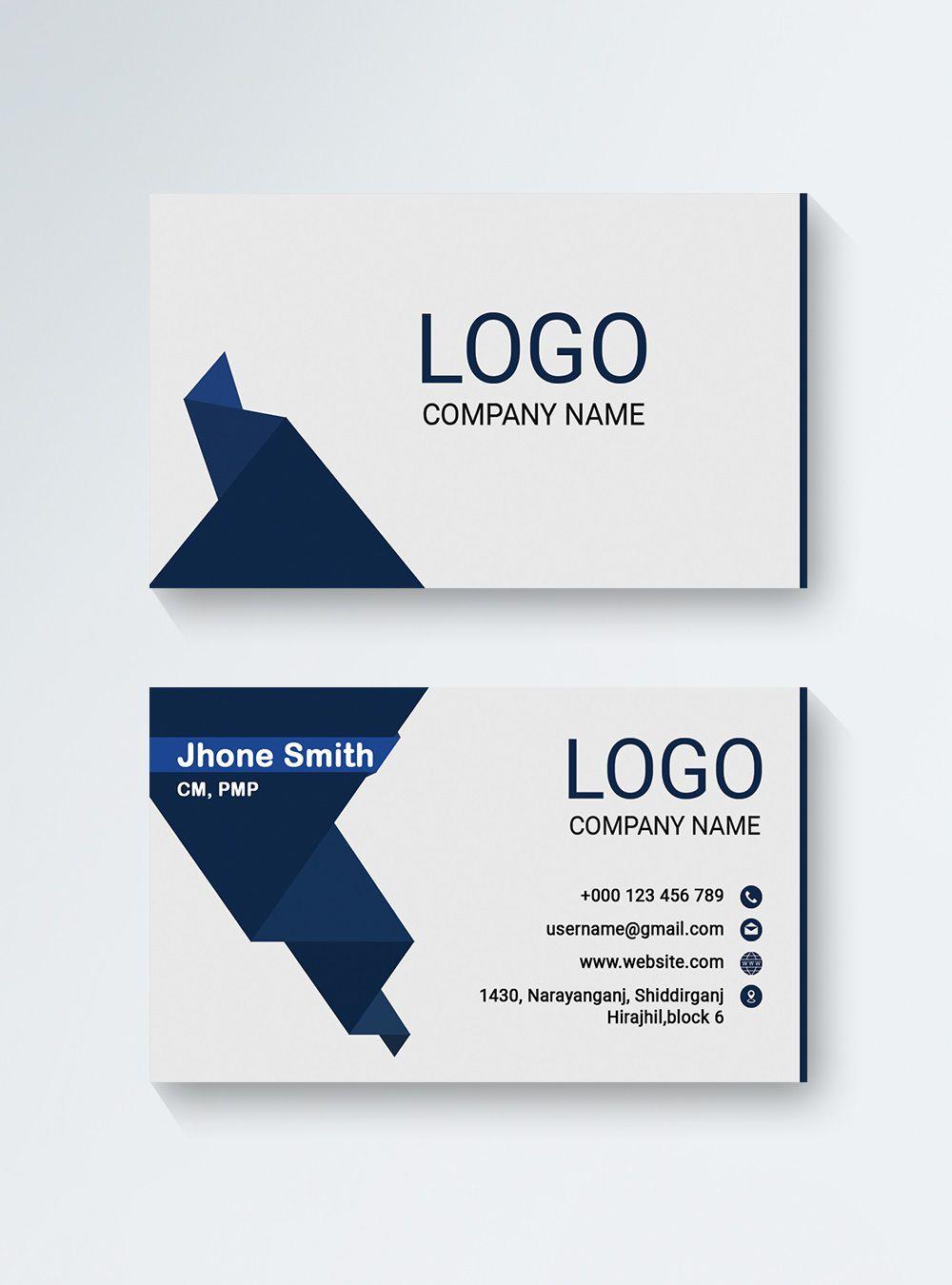 003 Wondrou Minimal Busines Card Template Free Download Sample  Simple Design CoreldrawFull