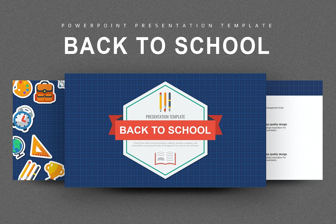 003 Wondrou Powerpoint Template Free Education Idea  Download 2018 For SchoolFull