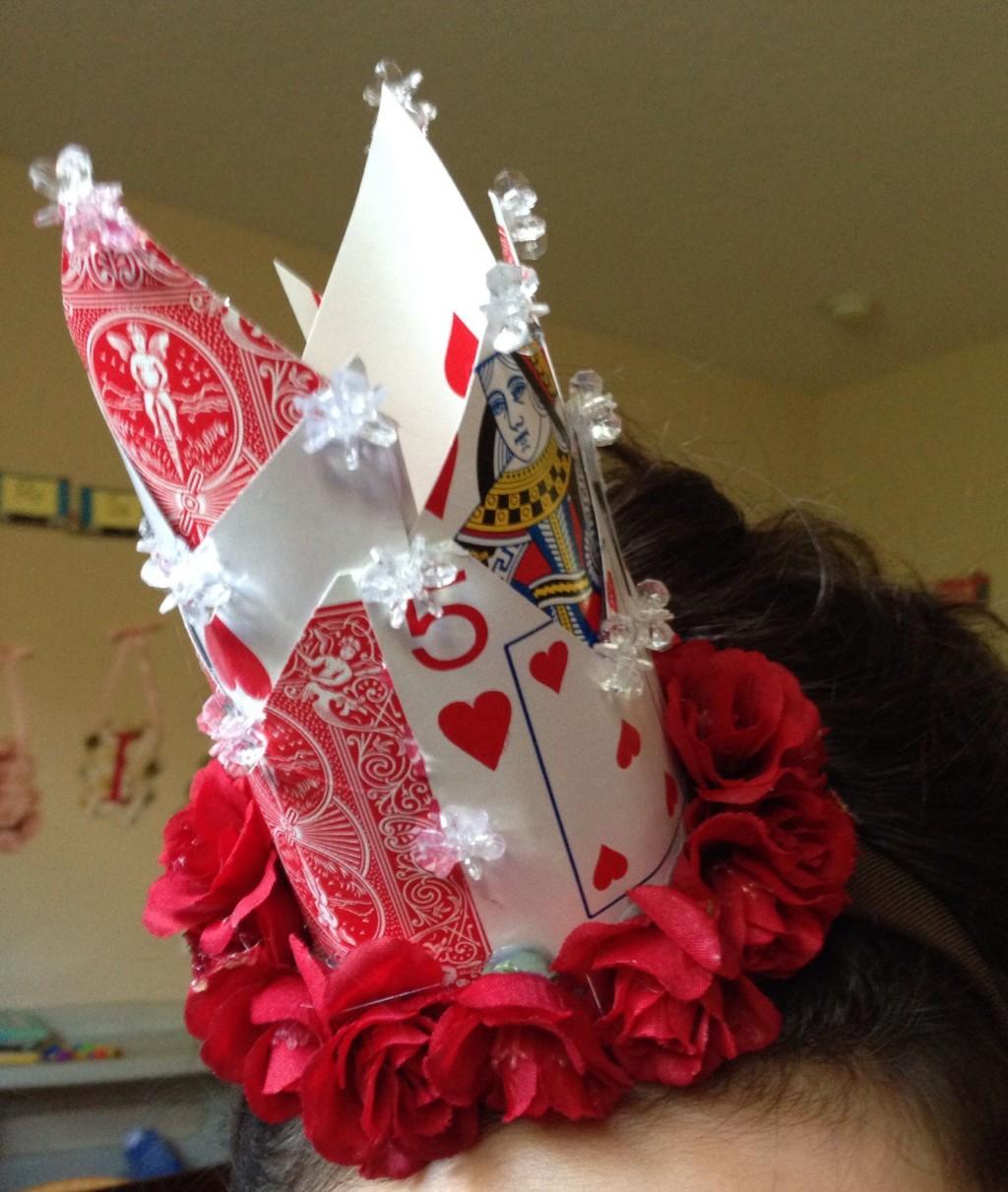 003 Wondrou Queen Of Heart Crown Pattern Idea  Printable Template Headband DiyLarge