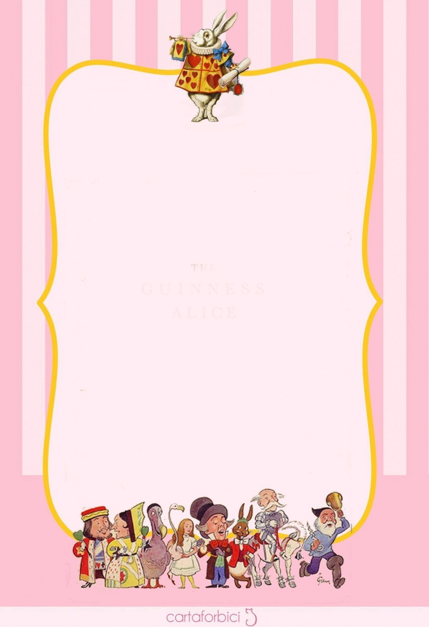 004 Amazing Alice In Wonderland Invitation Template Example  Templates Birthday Free Download