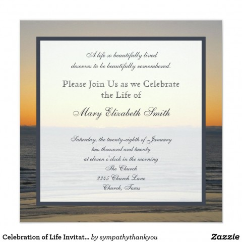 004 Amazing Celebration Of Life Invite Template Free Example  Invitation Download480