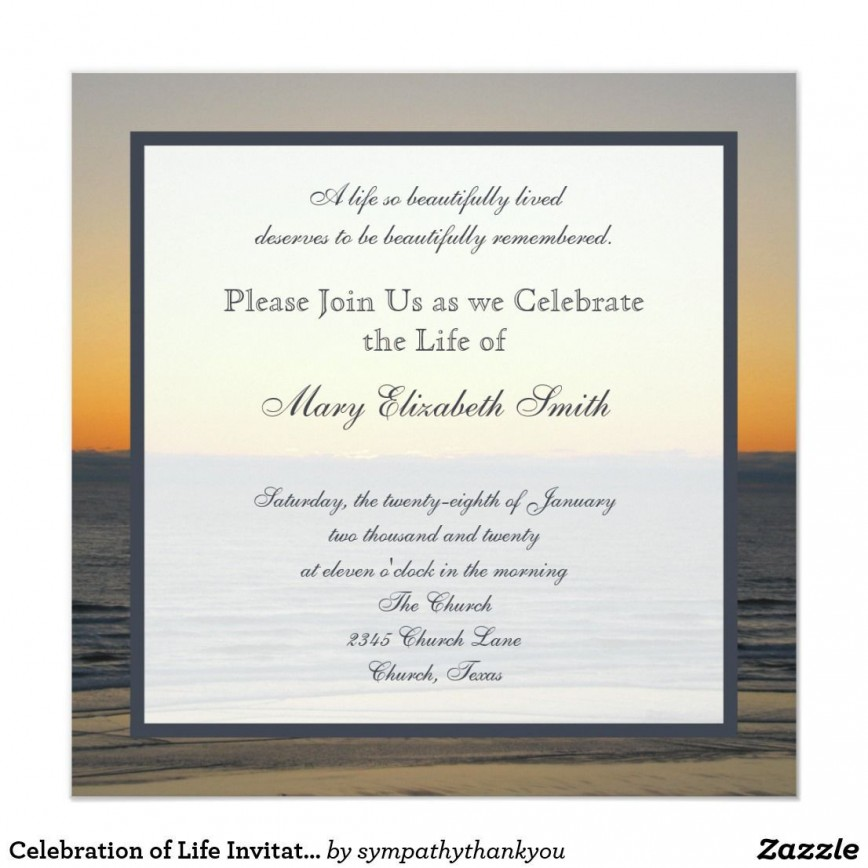 004 Amazing Celebration Of Life Invite Template Free Example  Invitation Download868