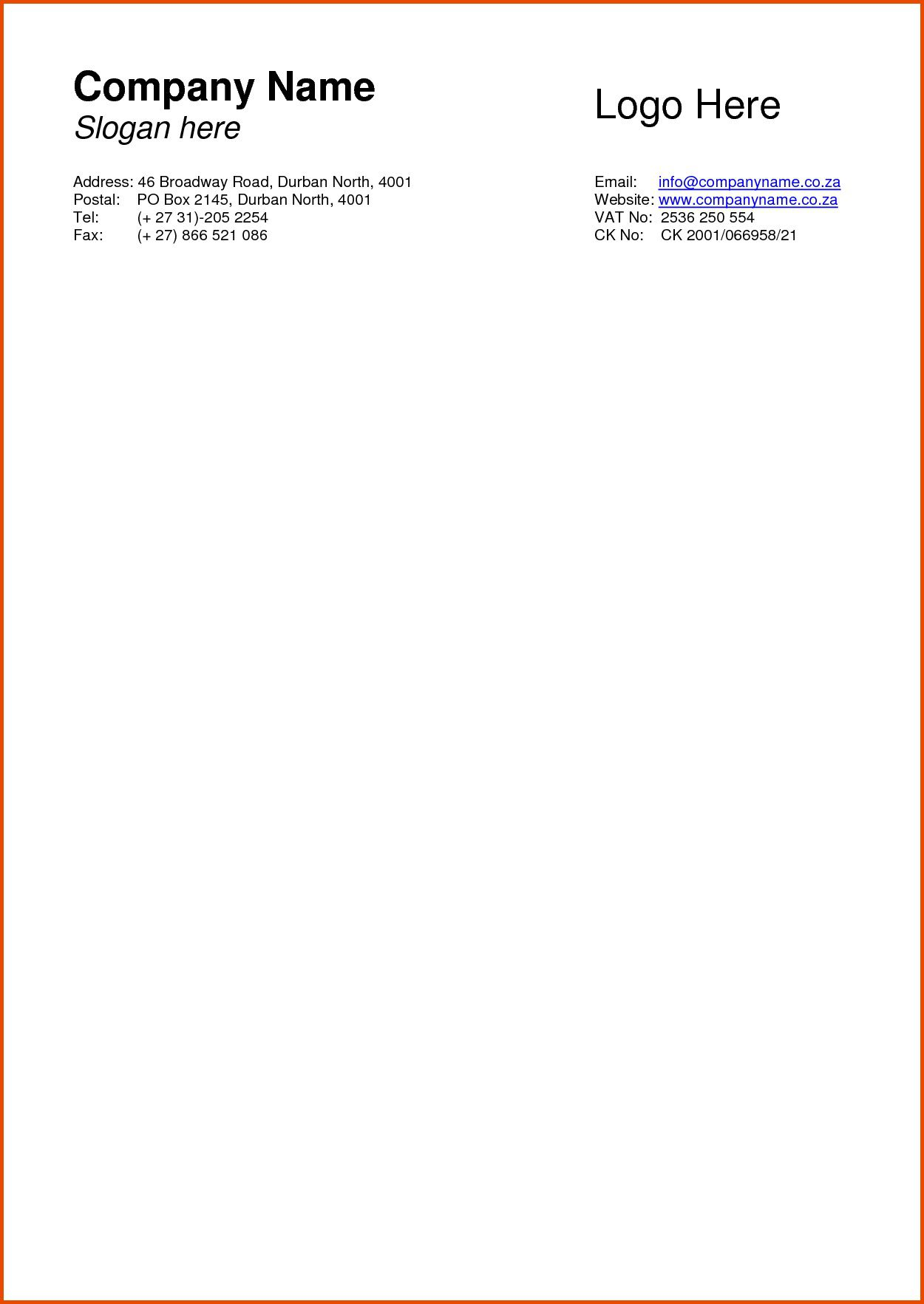 004 Amazing Company Letterhead Template Word High Definition  Busines 2007 Free DownloadFull