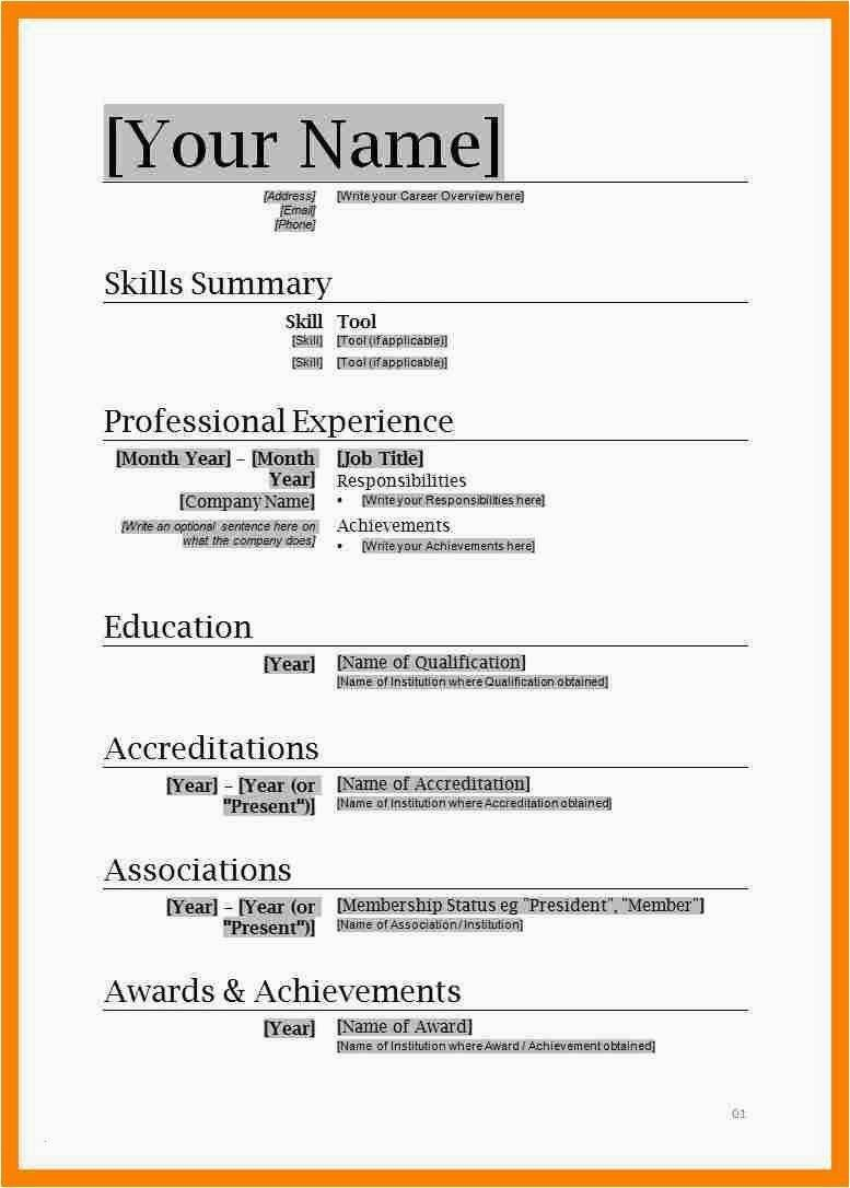 004 Amazing Entry Level Resume Template Word Download Sample Full
