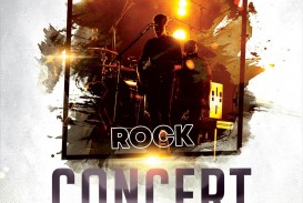 004 Amazing Free Concert Poster Template Highest Quality  Rock Psd Christma Photoshop