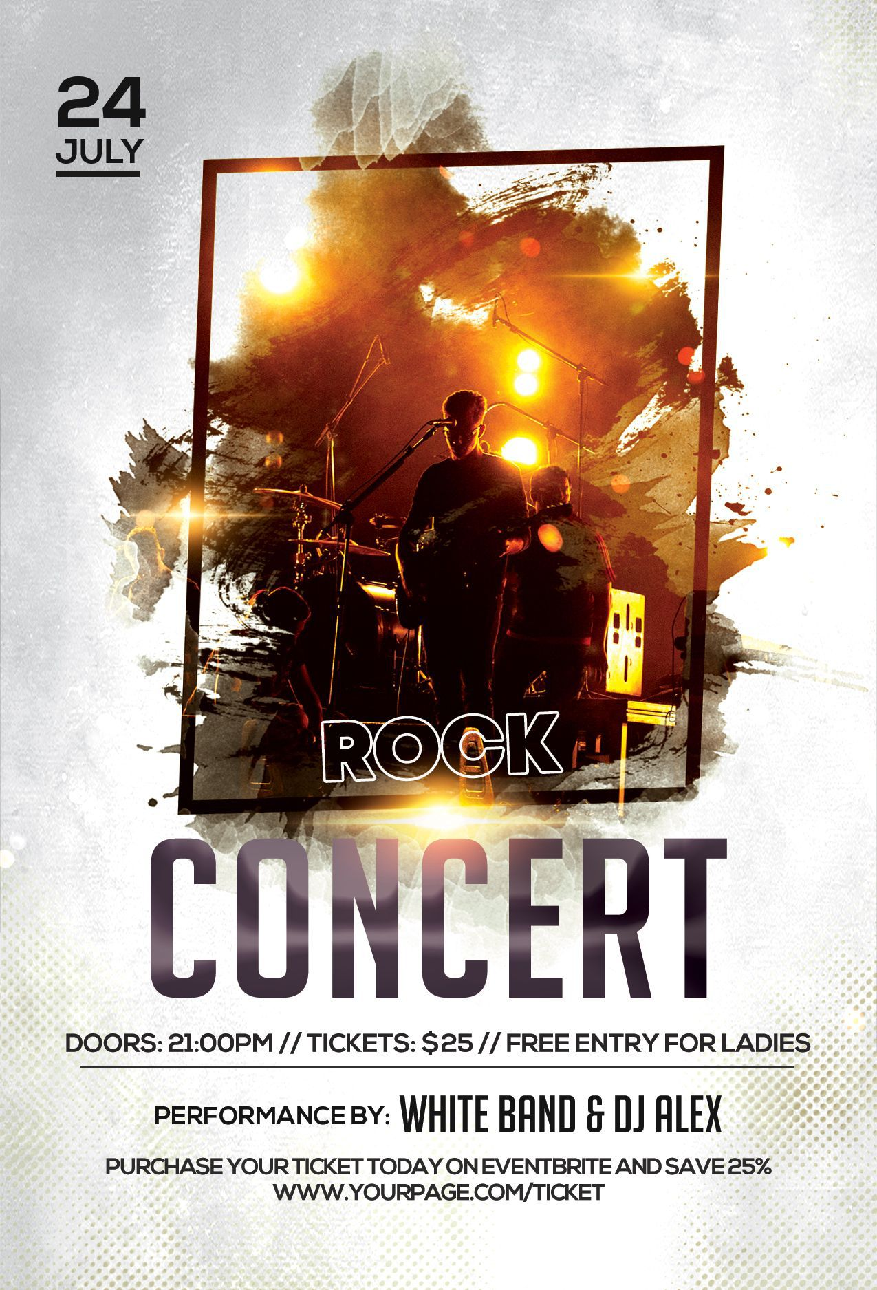 004 Amazing Free Concert Poster Template Highest Quality  Rock Psd Christma PhotoshopFull