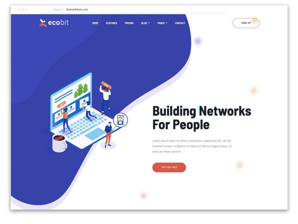 004 Amazing Free Landing Page Template Bootstrap Highest Quality  3 Html5 2019Large