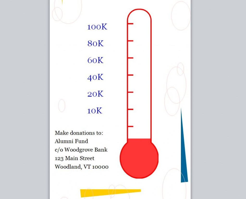 004 Amazing Goal Thermometer Template Excel Idea  Chart Download FreeLarge