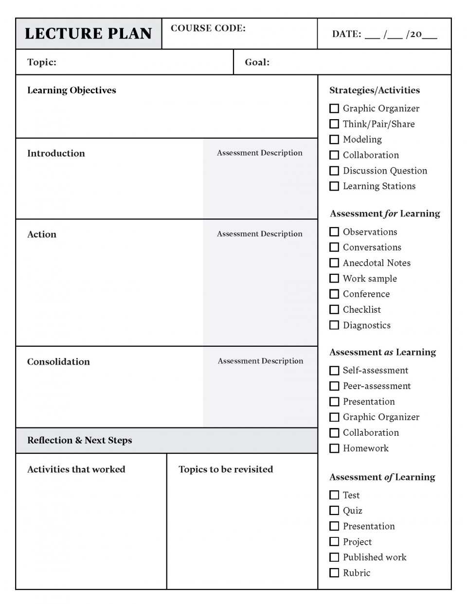 004 Amazing Lesson Plan Template Pdf Inspiration  Free Printable Format In English960