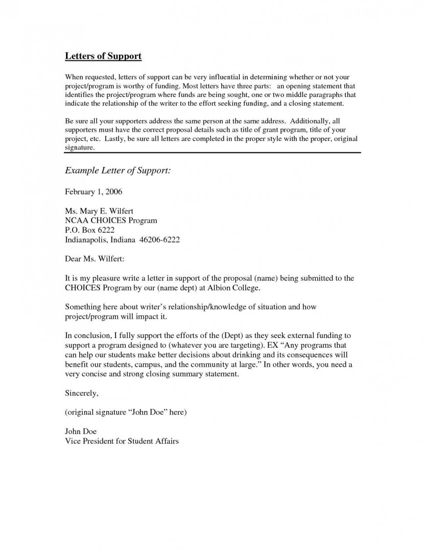 Grant Letter Of Support Example from www.addictionary.org
