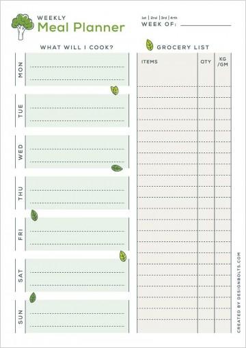 004 Amazing Meal Plan Printable Pdf Design  Worksheet Downloadable Template Sheet360