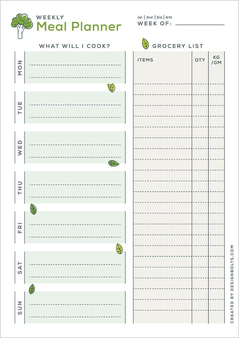 004 Amazing Meal Plan Printable Pdf Design  Worksheet Downloadable Template SheetFull
