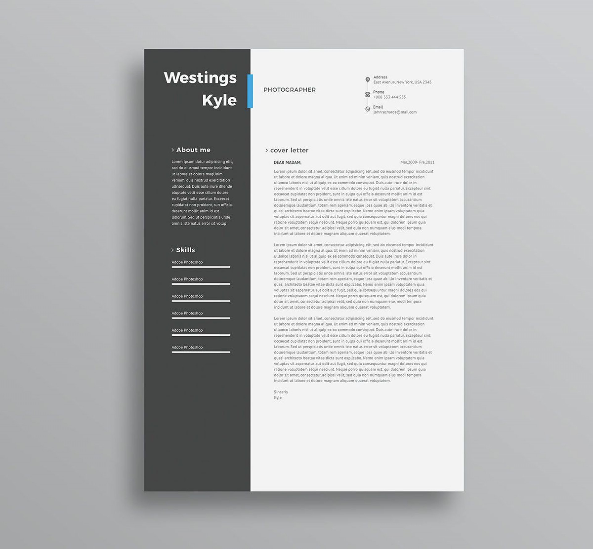 004 Amazing Professional Resume Template 2018 Free Download Photo 1920