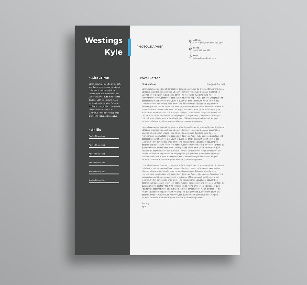 004 Amazing Professional Resume Template 2018 Free Download Photo Full