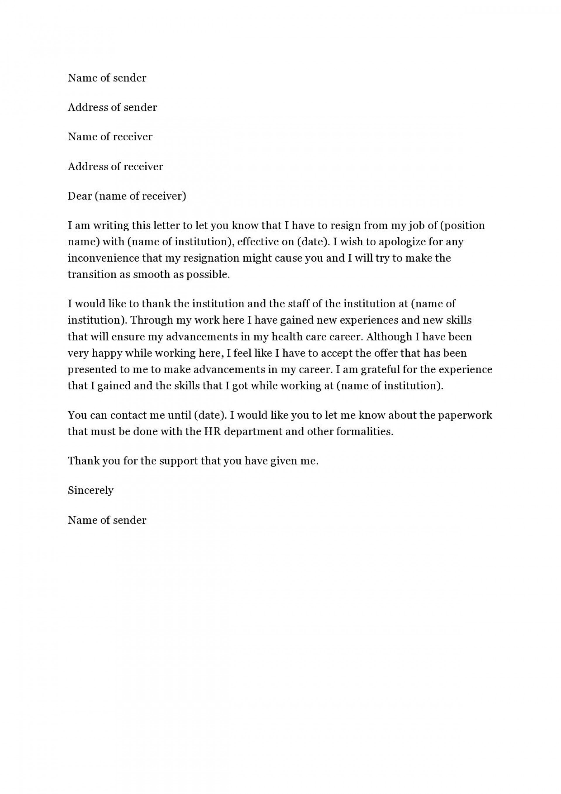 004 Amazing Sample Resignation Letter Template Email High Definition 1920