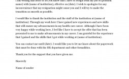 004 Amazing Sample Resignation Letter Template Email High Definition