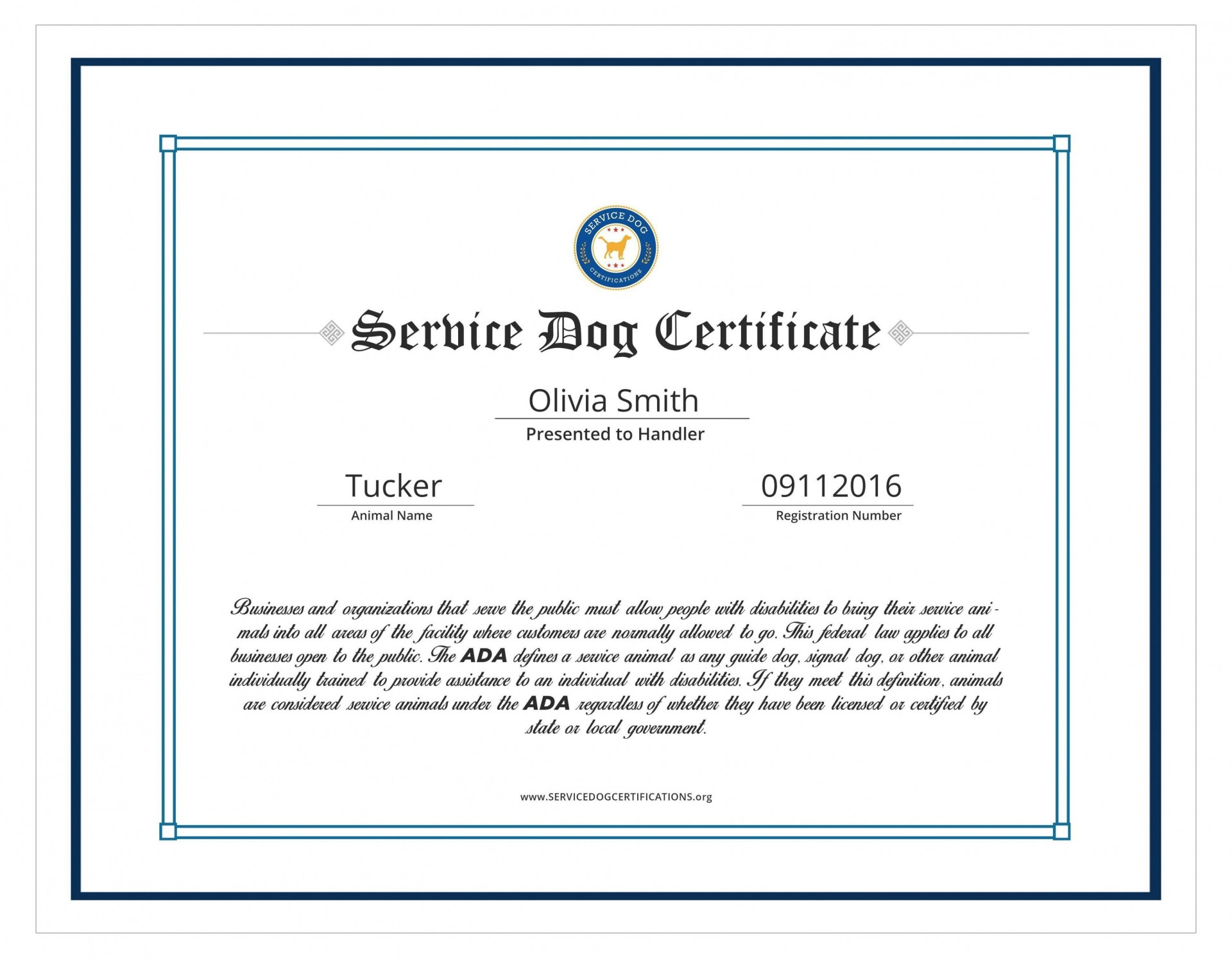 004 Amazing Service Dog Certificate Template Idea  Printable Id Free1920