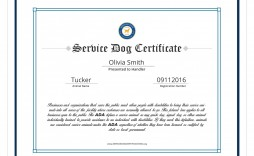 004 Amazing Service Dog Certificate Template Idea  Printable Id Free