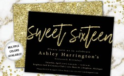 004 Amazing Sweet Sixteen Invitation Template Image  Templates Blue 16 Party Free