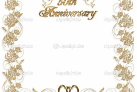 004 Archaicawful 50th Anniversary Invitation Template Concept  Wedding Microsoft Word Free Download