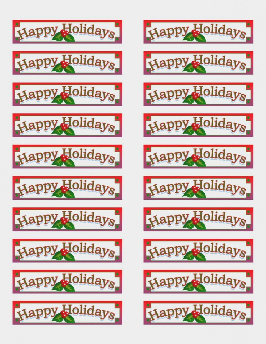 004 Archaicawful Christma Addres Label Template Example  Return Free Shipping