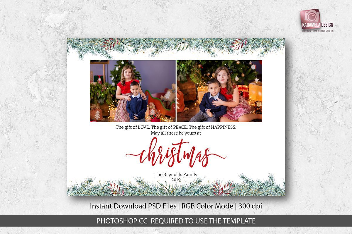 004 Archaicawful Christma Card Template Photoshop Image  Free Download FunnyFull